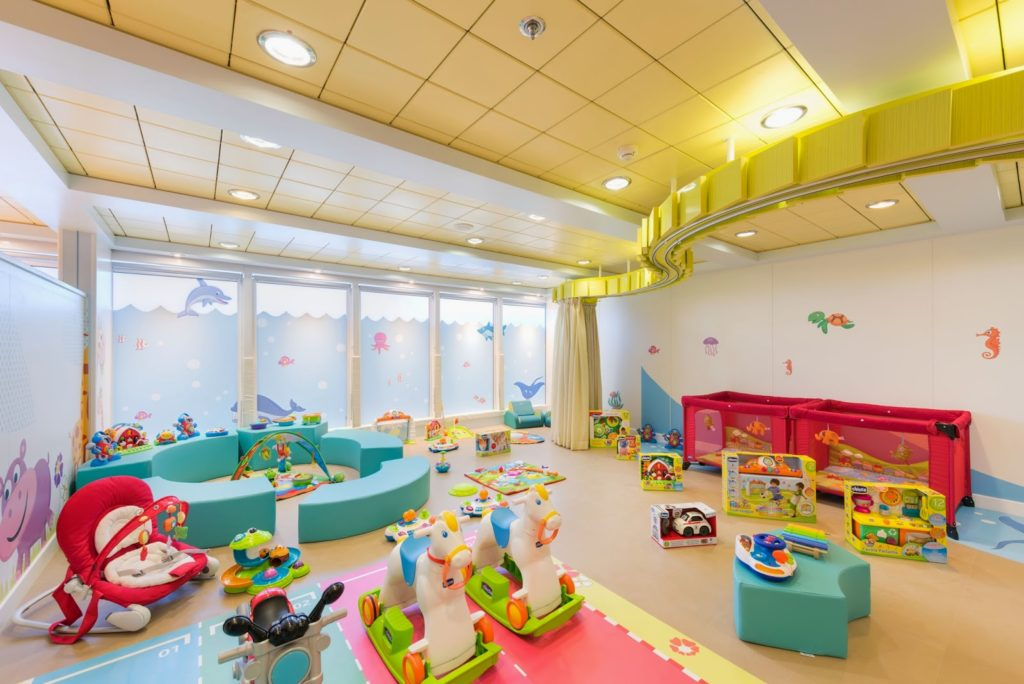 The baby facilities on-board MSC Sinfonia