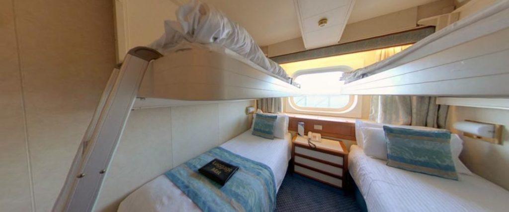 P&O Cruises Oceania Outside Cabin