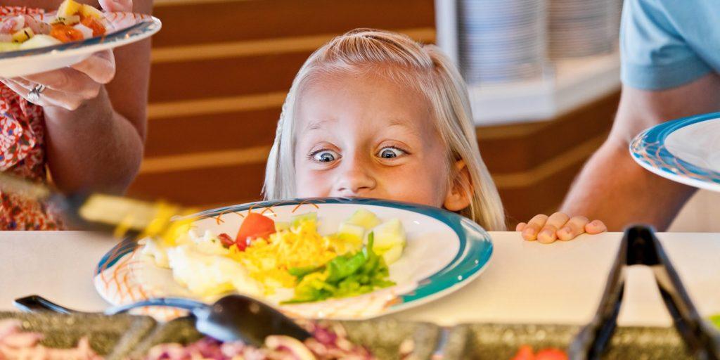 Child at buffet
