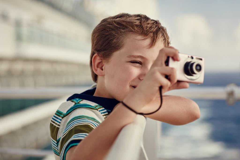 Iona child with camera