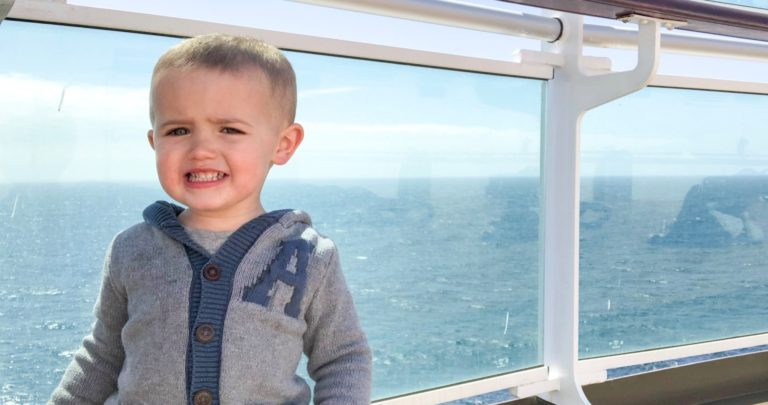 Toddler on P&O Britannia