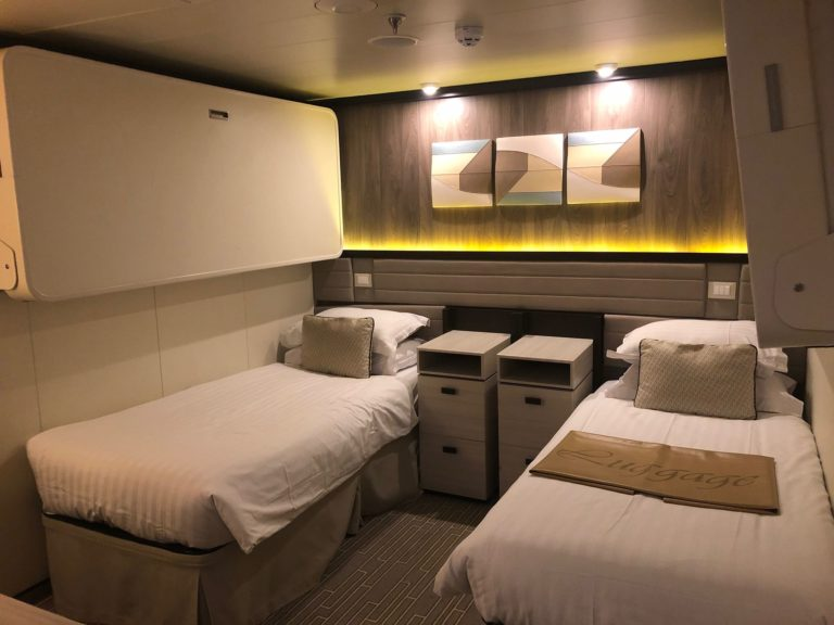 Inside cabin on Britannia with pullman beds