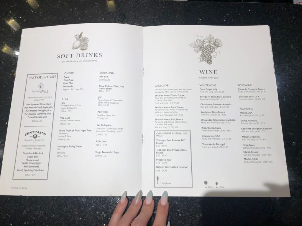 Brodies menu