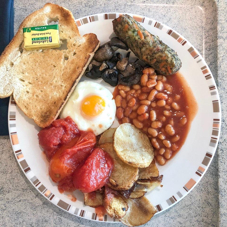 Horizon buffet vegetarian breakfast.