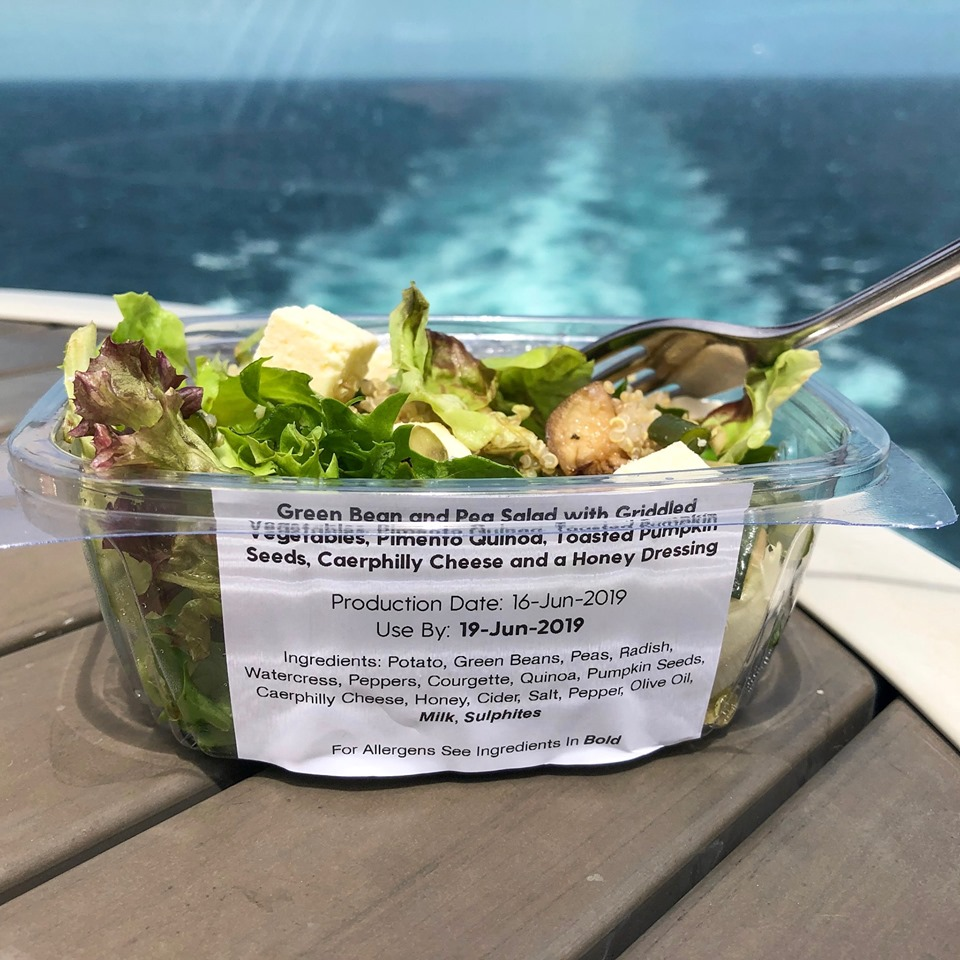 grab and go salad on P&O Cruises