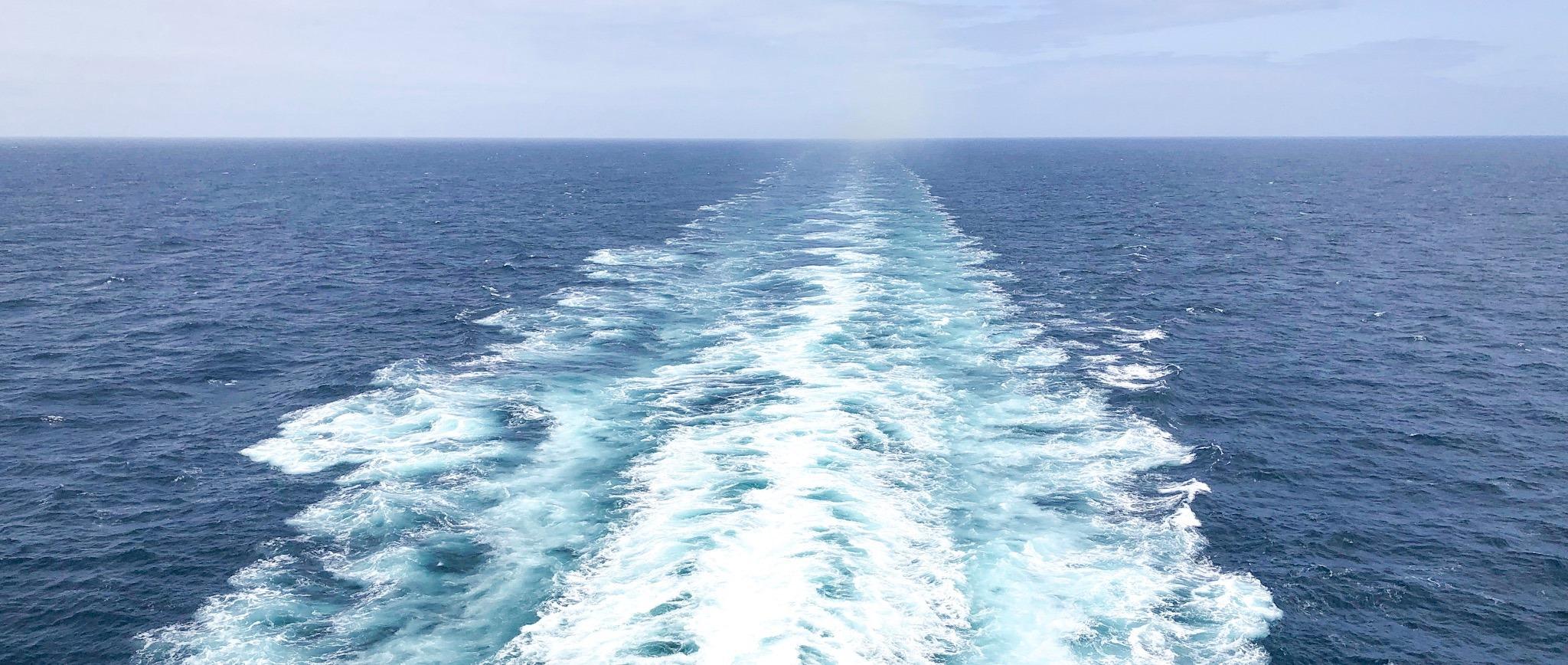 view of ship wake