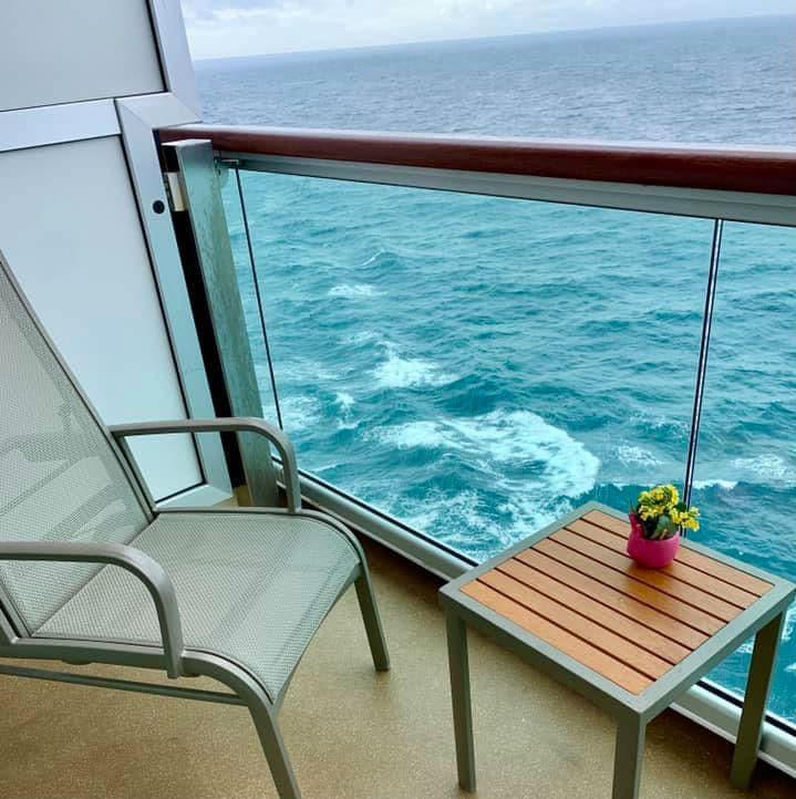 Balcony view on P&O Britannia