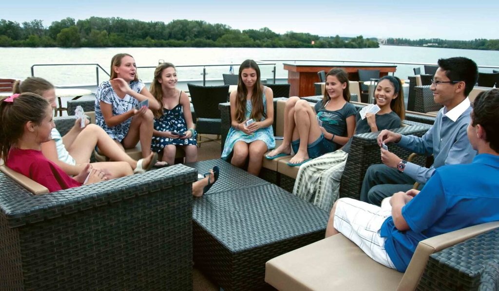 Teenagers on Tauck river cruise