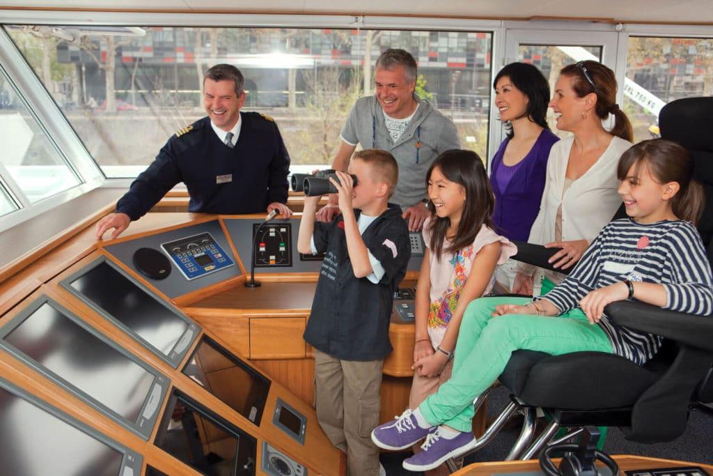 Bridge tour on Uniworld river cruise