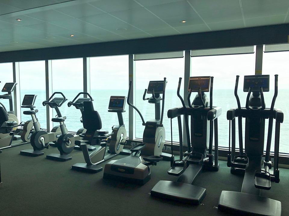 Gym on P&O Britanna
