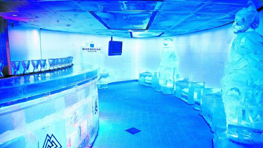 Norwegian Cruise Line's Ice Bar