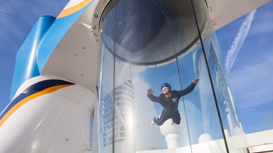 Royal Caribbean's skydiving simulator