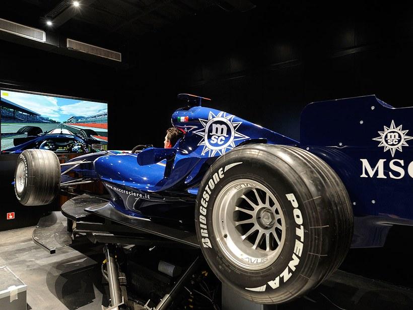 MSC Fantasia's Formula One simulator