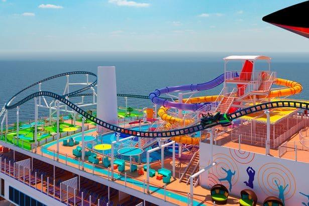 BOLT roller coaster on Carnival Mardi Gras