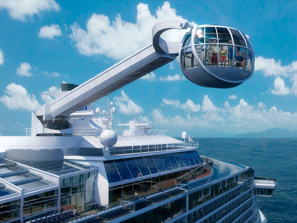 The North Star observation pod on Royal Caribbean's Anthem of the Seas