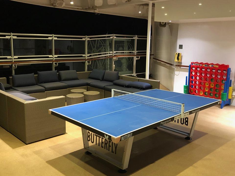 Table tennis on P&O Britannia