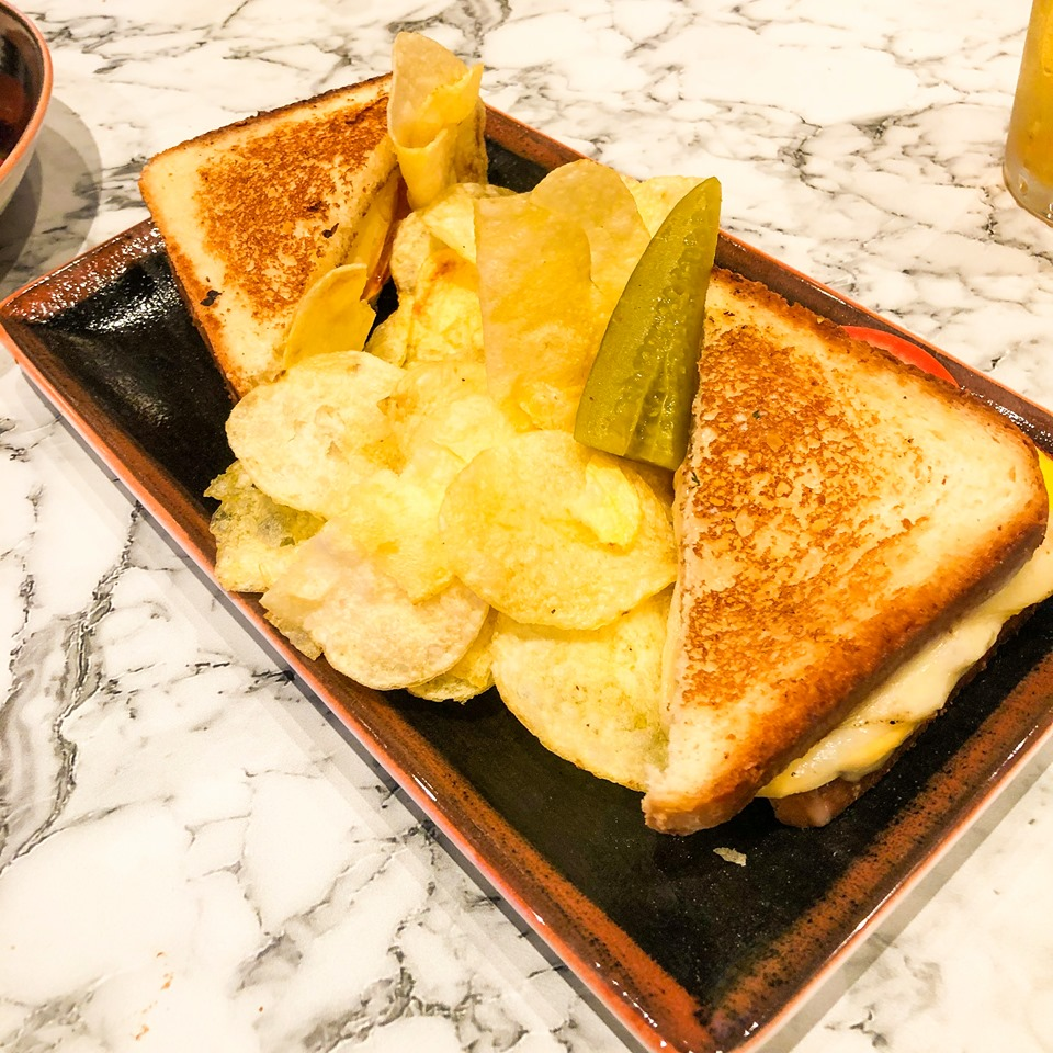 Grilled cheese sanswich in the Local bar and grill on Norwegian Encore