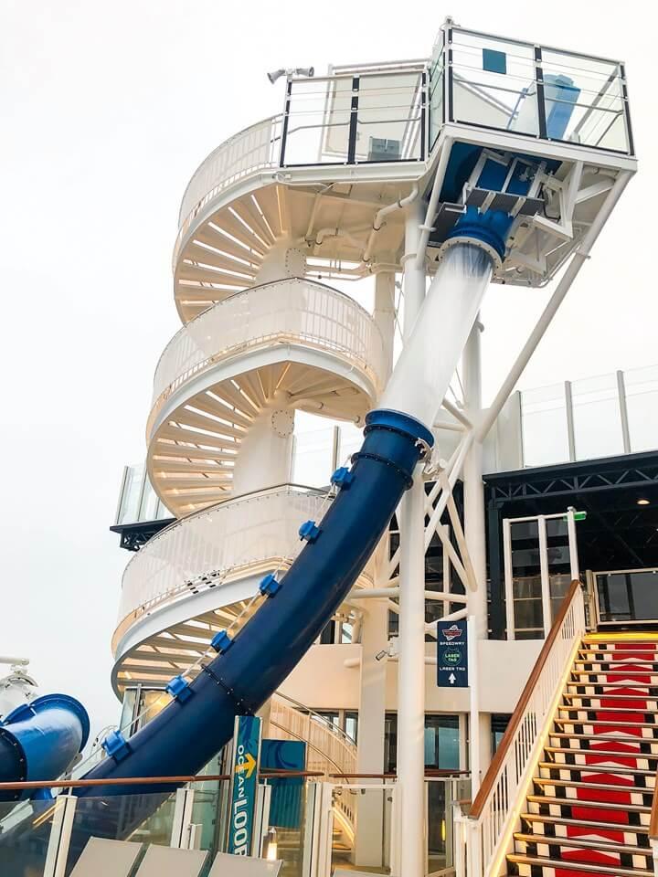 Ocean Loops slide on Norwegian Encore