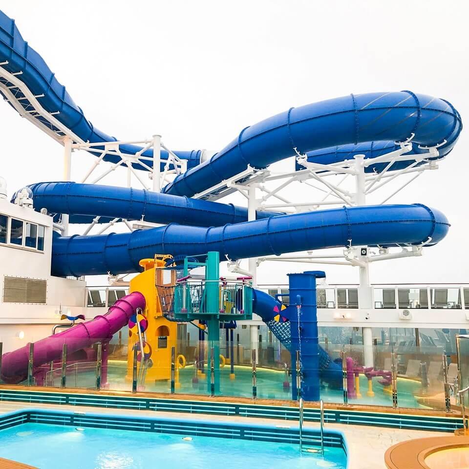 Aqua Racer slide and Aqua Park on Norwegian Encore