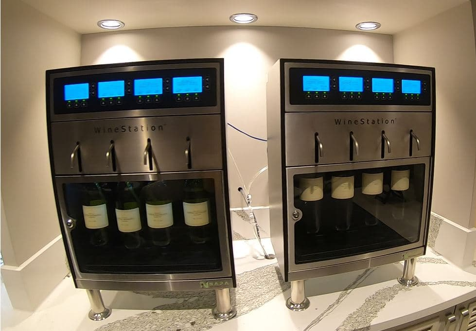 Self-service wine station