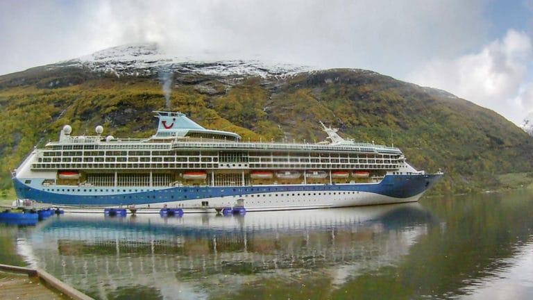 Marella cruise ship in Flam