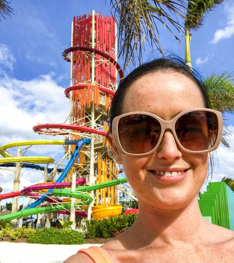 Me a the Thrill Waterpark on CocoCay