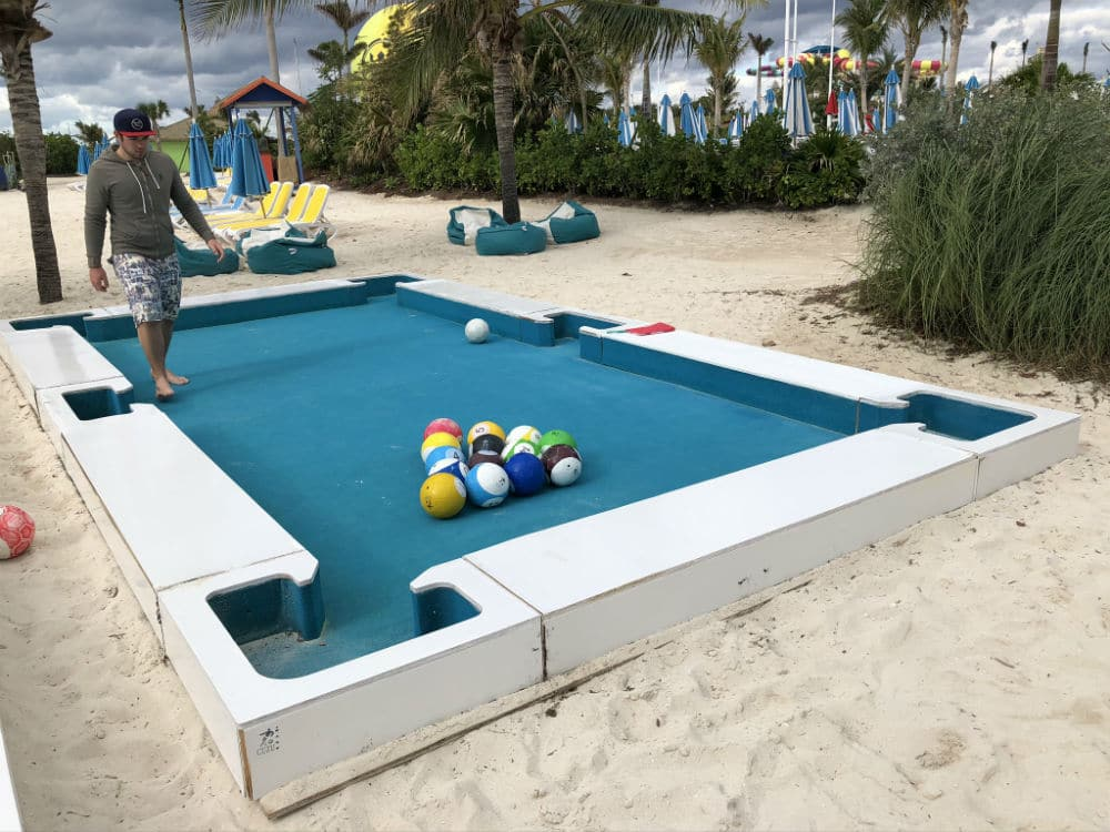 giant snooker on CocoCay
