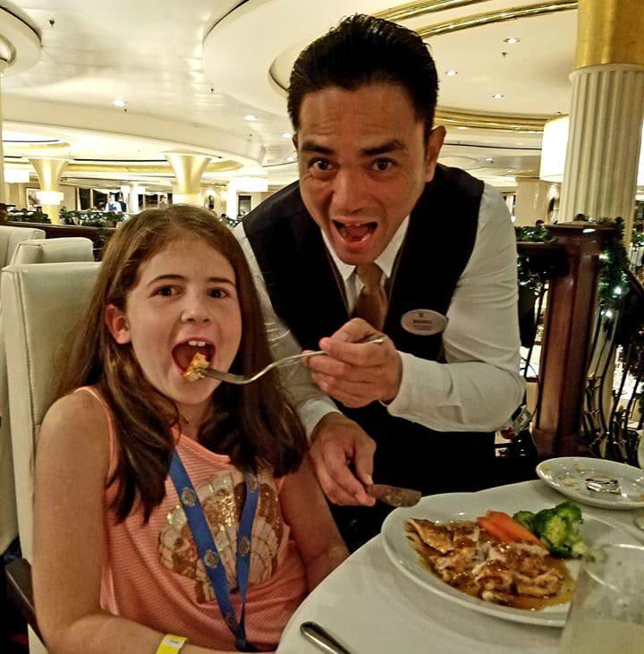 girl with Royal Caribbean waiter
