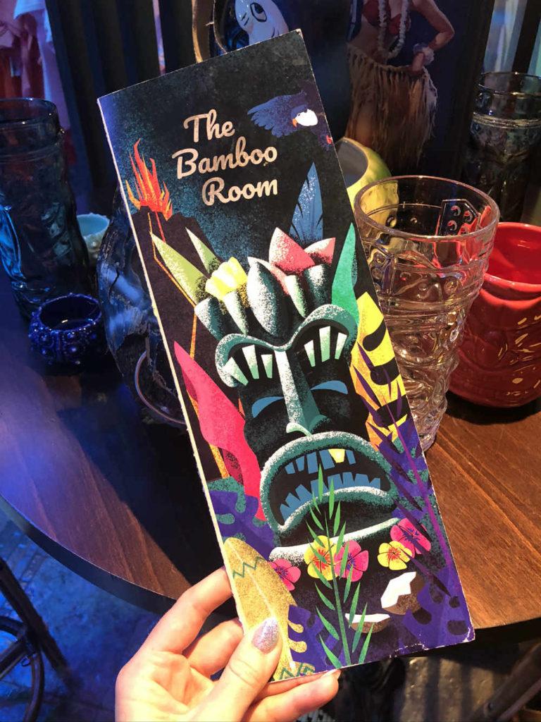 Royal Caribbean Bamboo Room menu - front