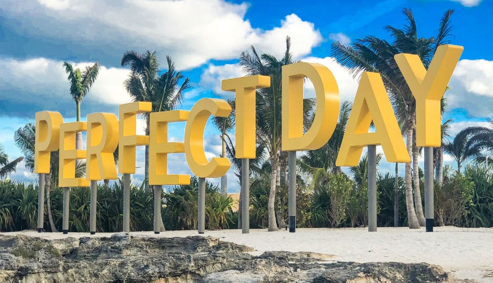 Perfect Day sign on CocoCay