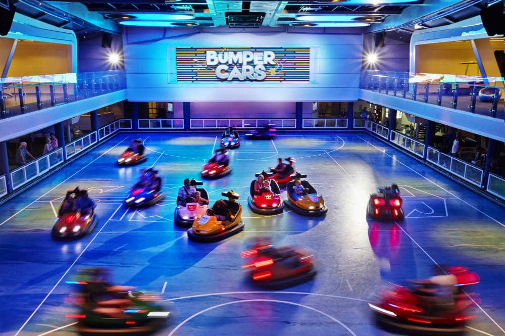 Bumper cars on Athem of the Seas