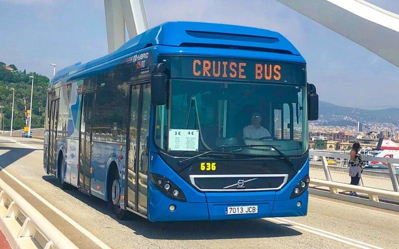 Barcelona cruise shuttle bus