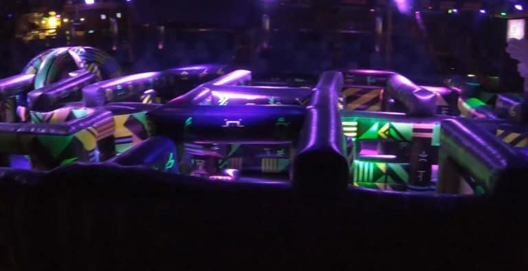 Royal Caribbean laser tag arena