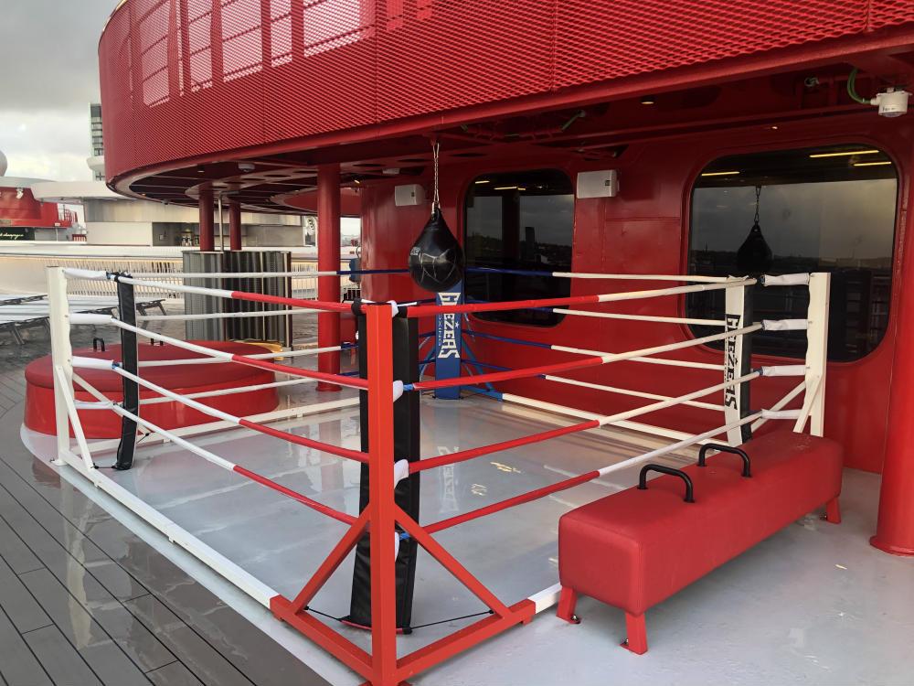 Scarlet Lady boxing ring