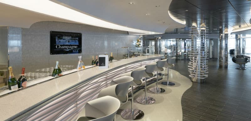 Champagne bar on MSC Seaview