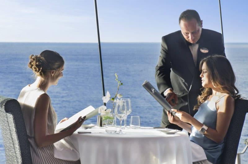 Couple with MSC drinks menu