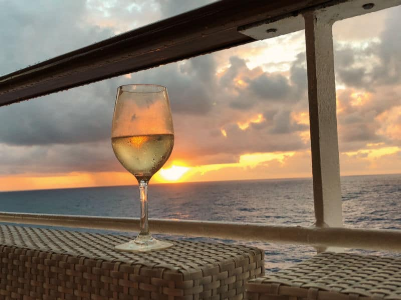 Wine glass on a cruise