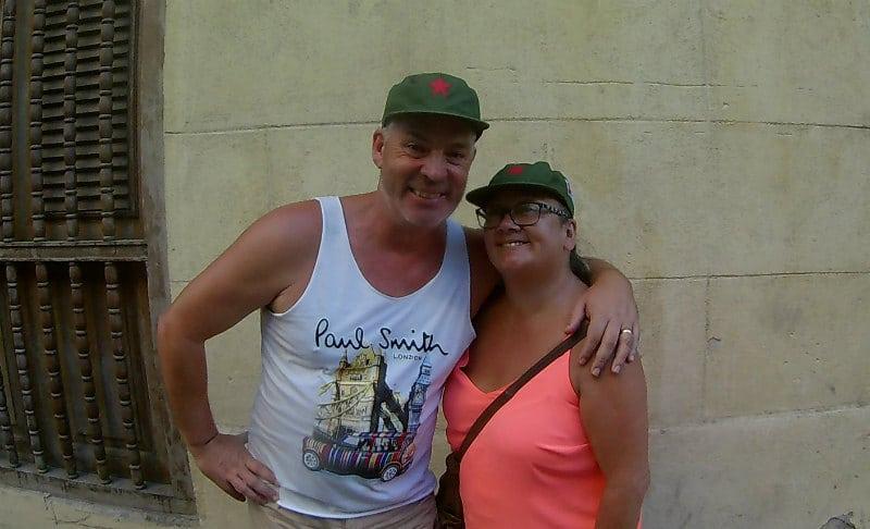 Cruise bloggers Paul and Carole in Havana