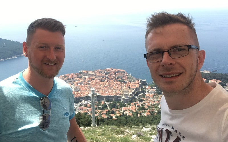 Cruise bloggers Gavin and Luke in Dubrovnik