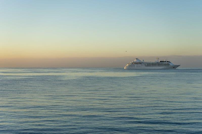 cruise ship on calm water