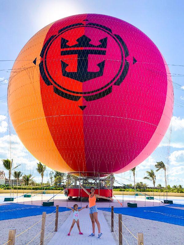 Cococay balloon ride