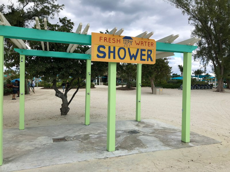 CocoCay showers