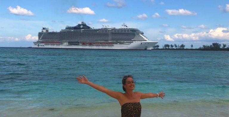 MSC Seaside large cruise ship
