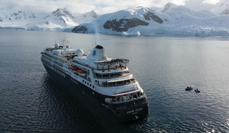 Silver Cloud is a small cruise ship