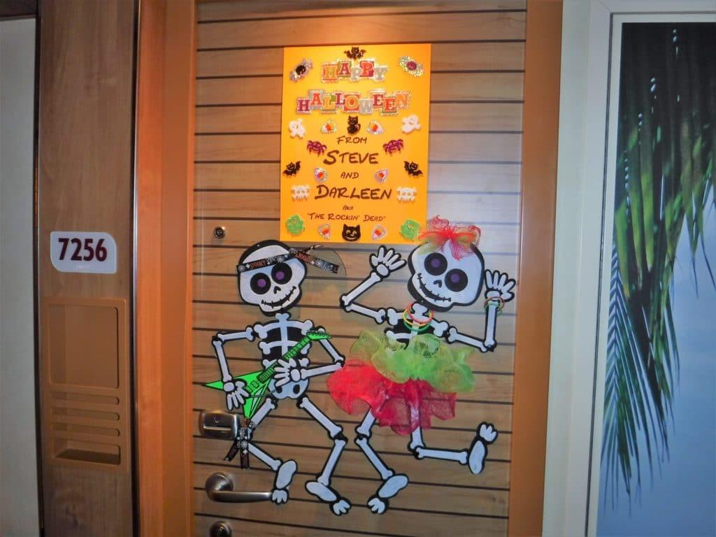 Halloween cruise door decorations