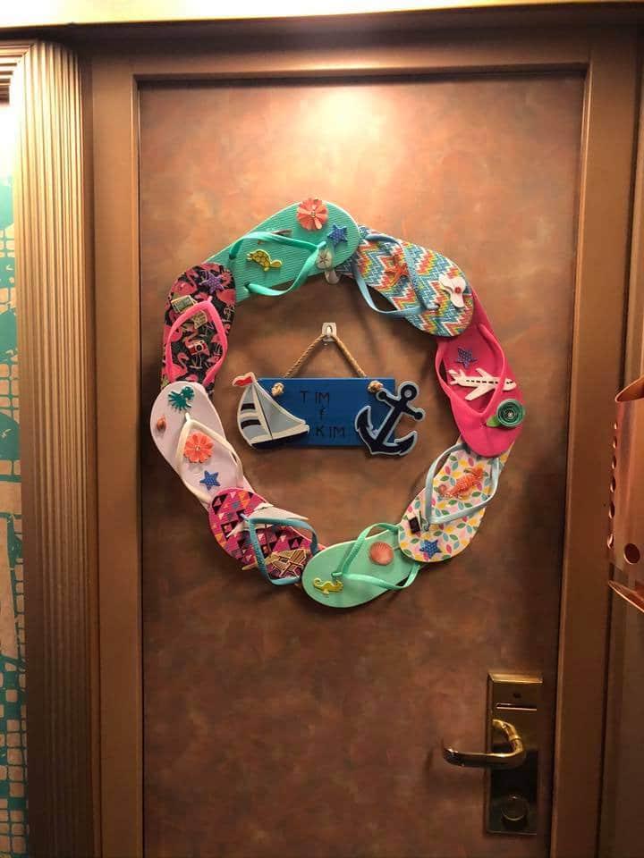 flip flop door wreath