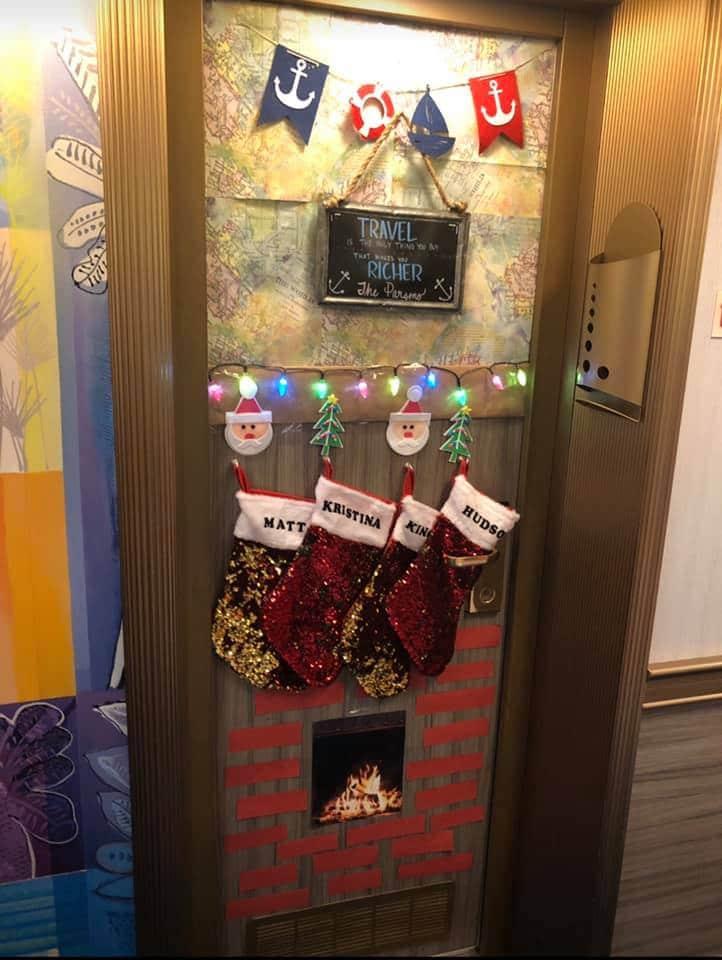 Christmas cruise door decorations
