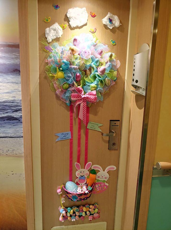 Easter cruise door decorations