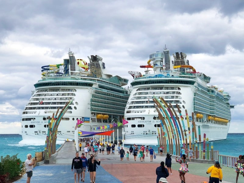Mainer and Navigator of the Seas at CocoCay