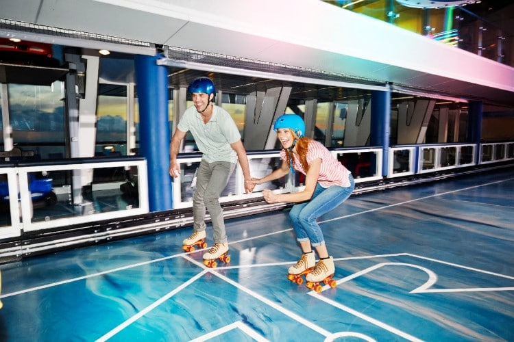 Roller skating on Anthem of the Seas